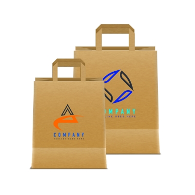 크라프트 종이쇼핑백(소,중,대) 3도인쇄 100매